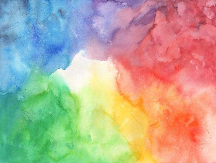Free Photo Watercolors Rainbow Colors Lilac