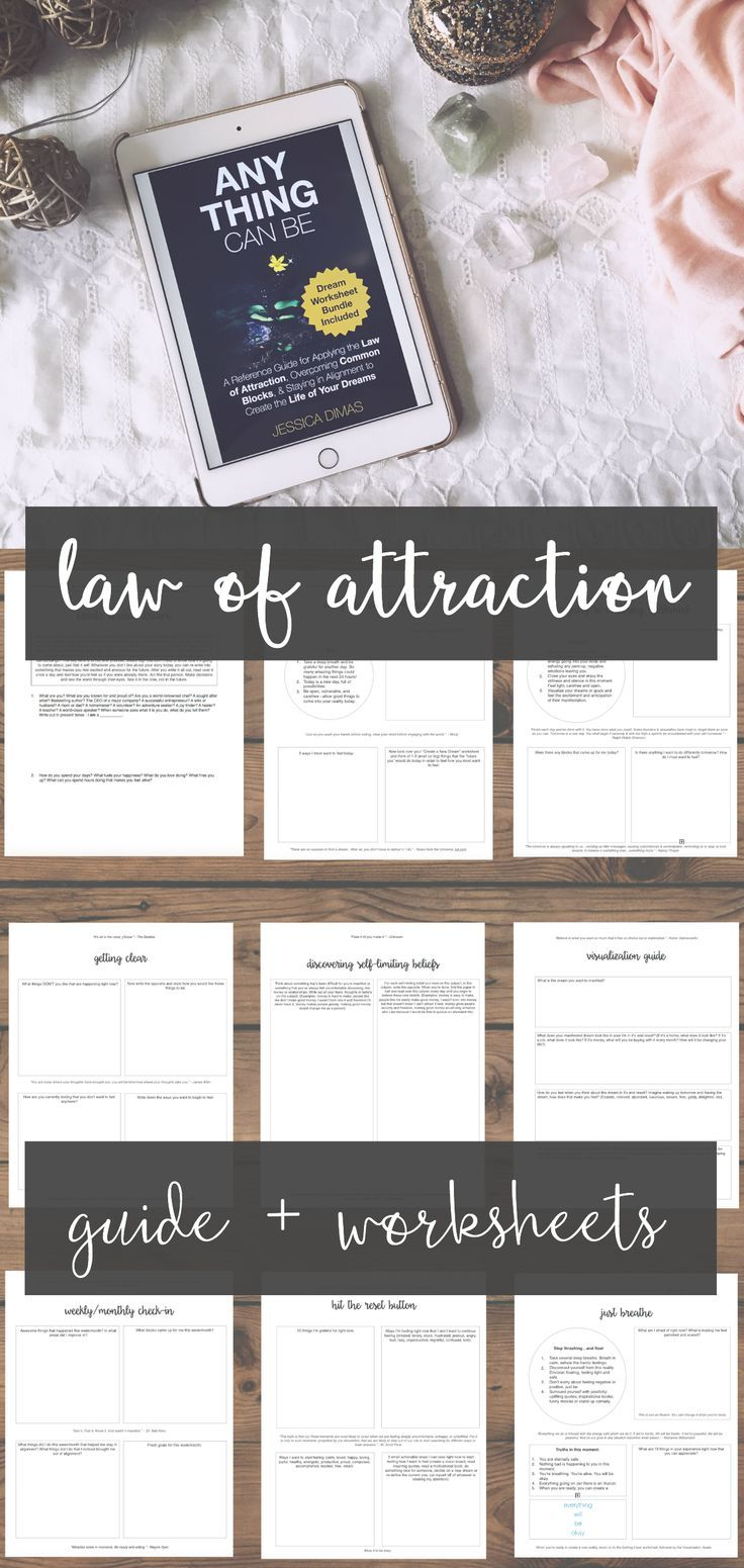It is a picture of Eloquent Law of Attraction Worksheets