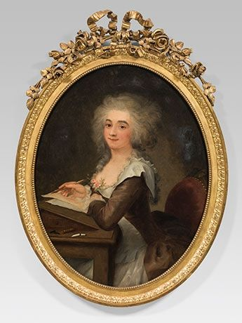 Portrait of a lady, French School, late 18th Century