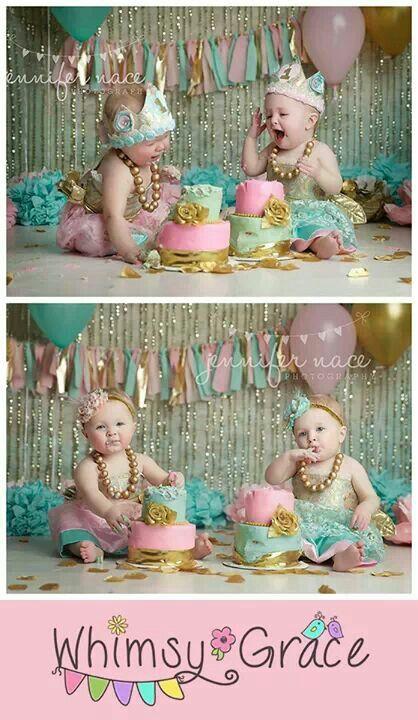 Pink, Mint & Gold garland Photographed by Jennifer nace photography