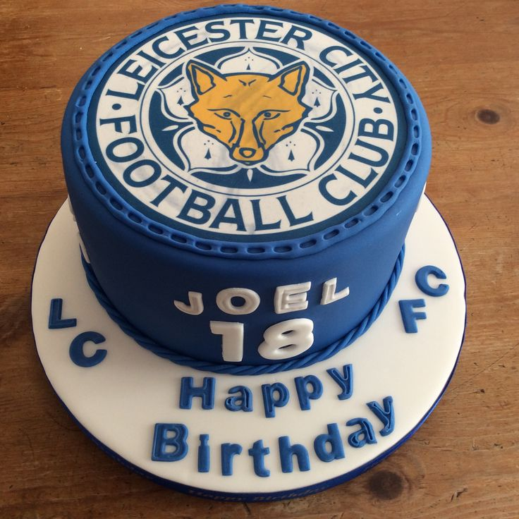 10 07 2015 7 Quot Leicester City Fc 18th Birthday Cake