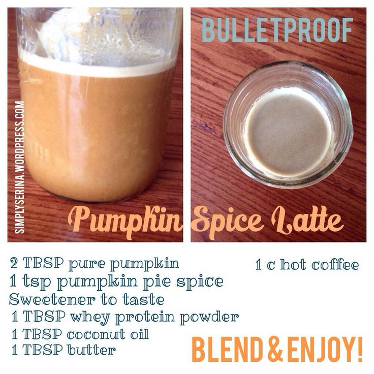 Bulletproof Pumpkin Spice Latte, Trim Healthy Mama Style