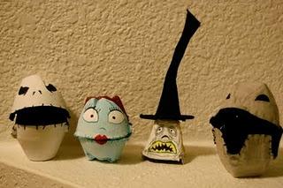 Egg Carton Creations: Carton Sculptures, Eggs, Egg Carton Halloween Crafts, Egg Cartons, Diy, Nightmare Before Christmas, Halloween Egg Carton Crafts, Halloween Craft Egg Carton