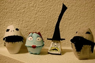 Egg Carton CreationsDiy Ideas, Cartons Monsters, Cartons Nightmare, Eggs Cartons Crafts, Egg Cartons, Cartons Creations, Nightmare Before Christmas, Jack Skellington, Halloween