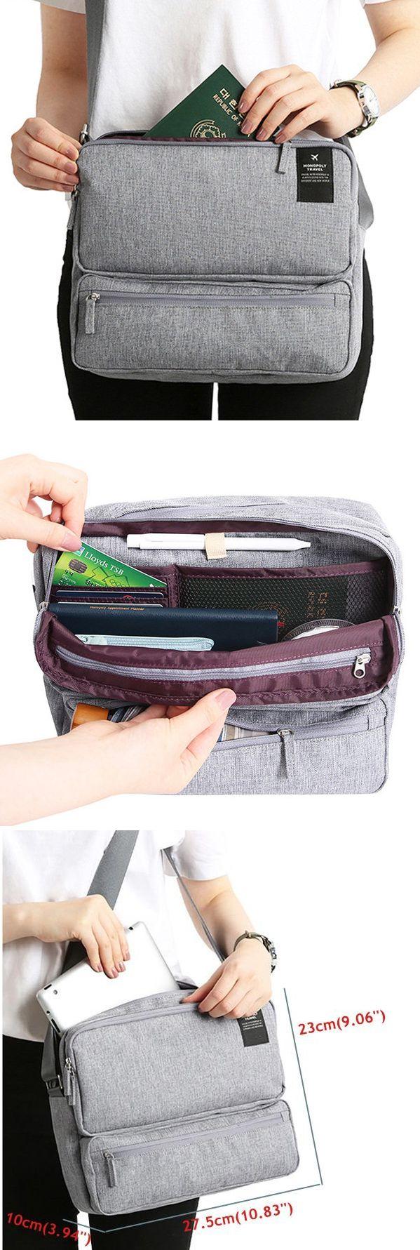 US$16.89 Women Men Unisex Outdoor Large Capacity Functional Laptop Shoulder Bag Crossbody Bag