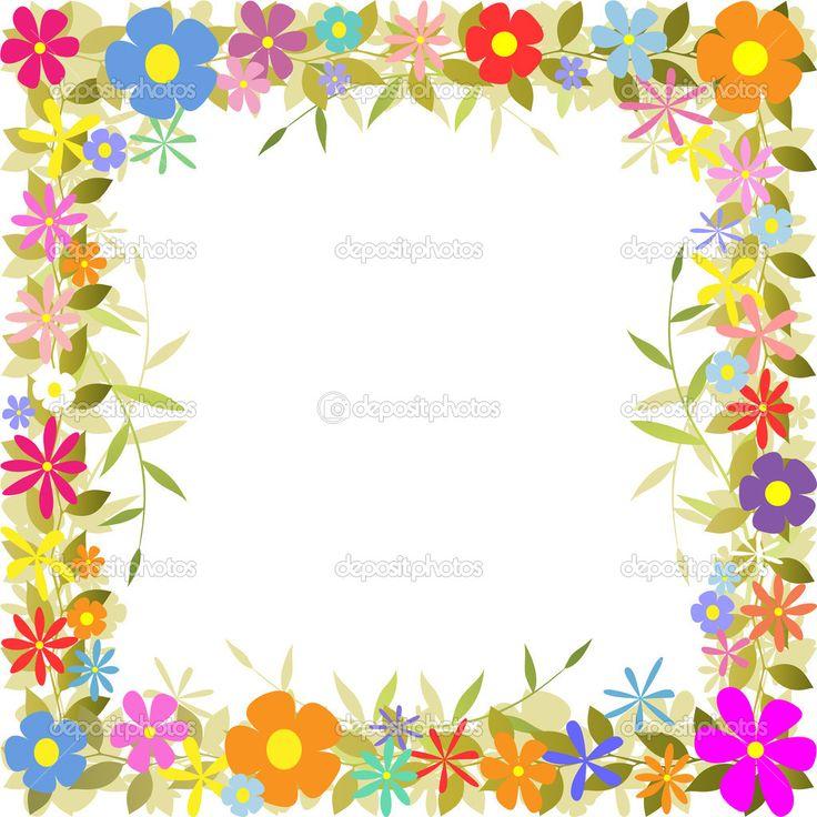 Цветочная граница — стоковая иллюстрация #6751566