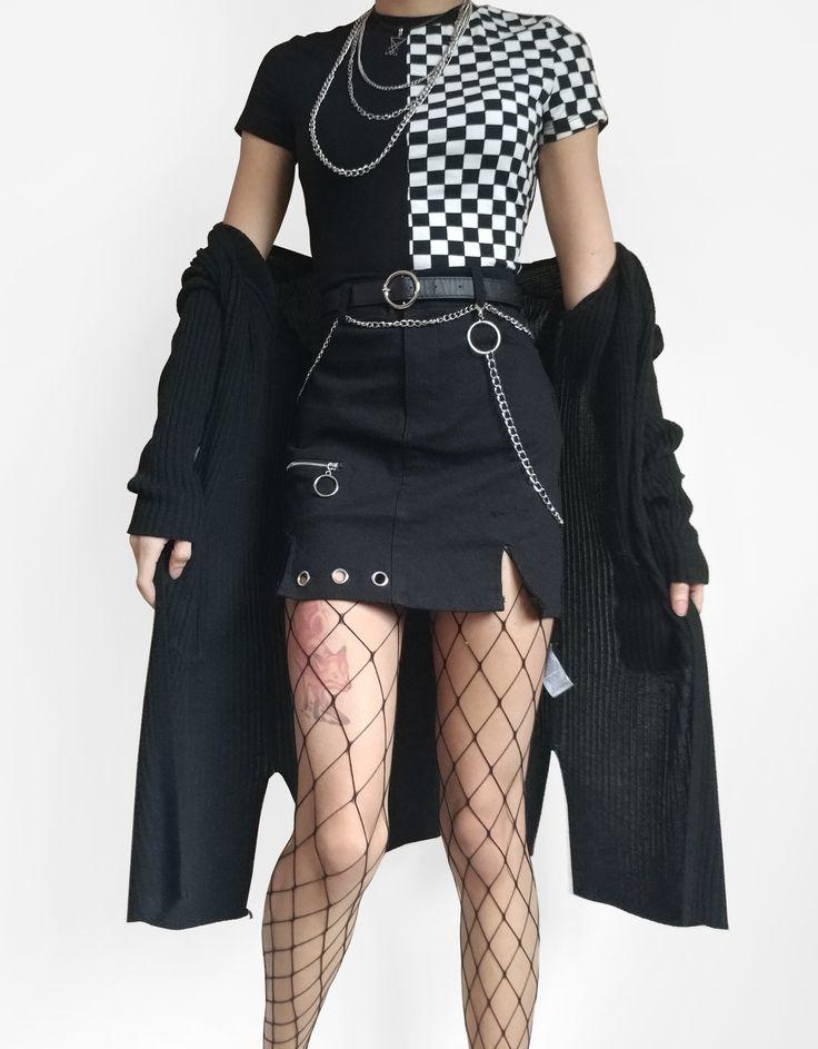 Ninja Cosmico Collaboration ~ Irregular High Waist Skirt with Ring Chain ~ Raeyel's Collaborations