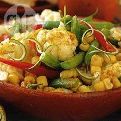 Ensalada de tres verduras con vinagreta de curry @ allrecipes.com.mx