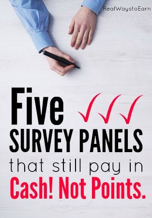 Five survey panels that pay in cash, not points.