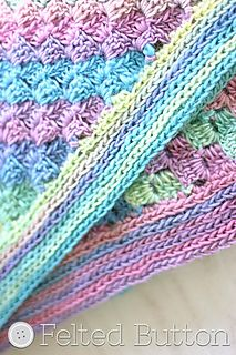 Spring-into-Summer Blanket (corner-to-corner pattern) by Susan Carlson of Felted Button