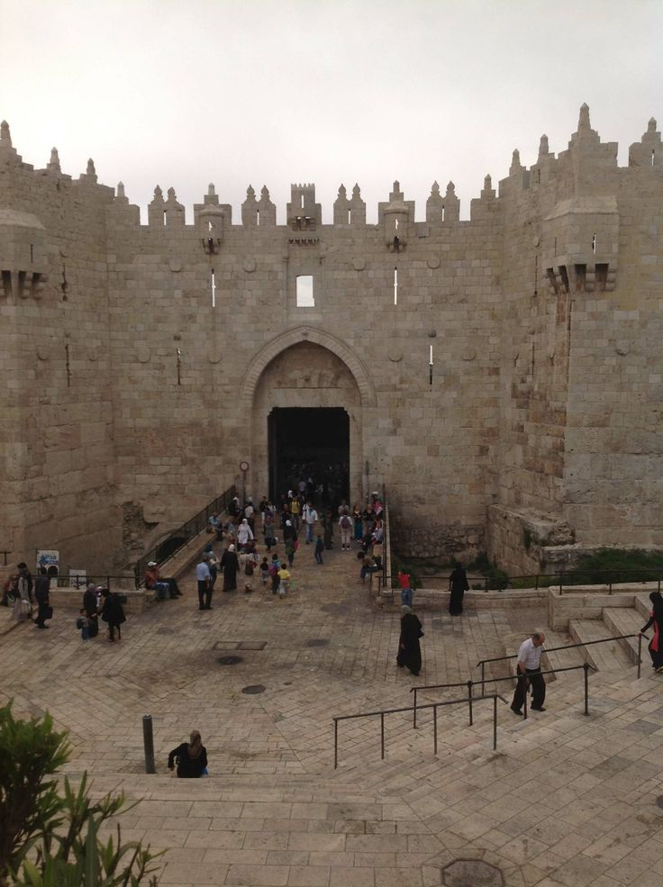 OLD CITY OF JERUSALEM - Damascus Gate  - This leads into the Muslim Quarter of Jerusalem's Old City. A market selling sneakers, food, and household goods sets up here, providing a bizarre contrast to architecture dating to the 16th century, and perfectly representing this land of contradictions. This is the main gate to the Old City, and the road running through it has always led to...Damascus.