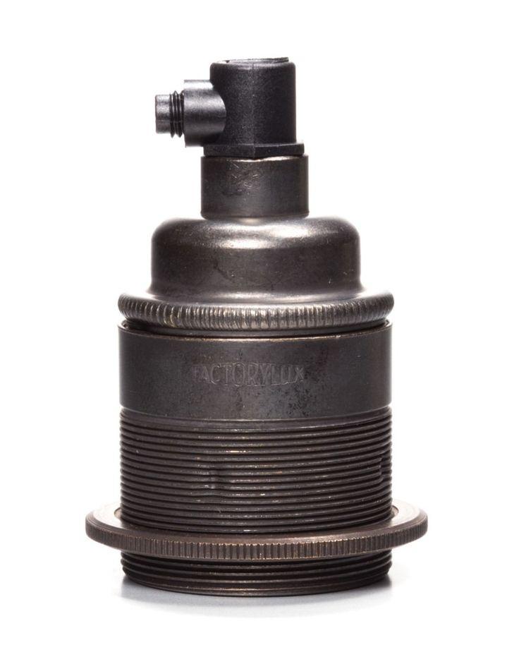antique bronze screw lamp holder cord grip