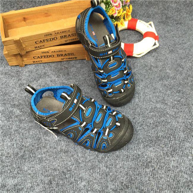Экспорт мальчика сандалии сандалии Баотоу большой открытый детские сандалии скольжения обуви 29-35 ярдов - Taobao