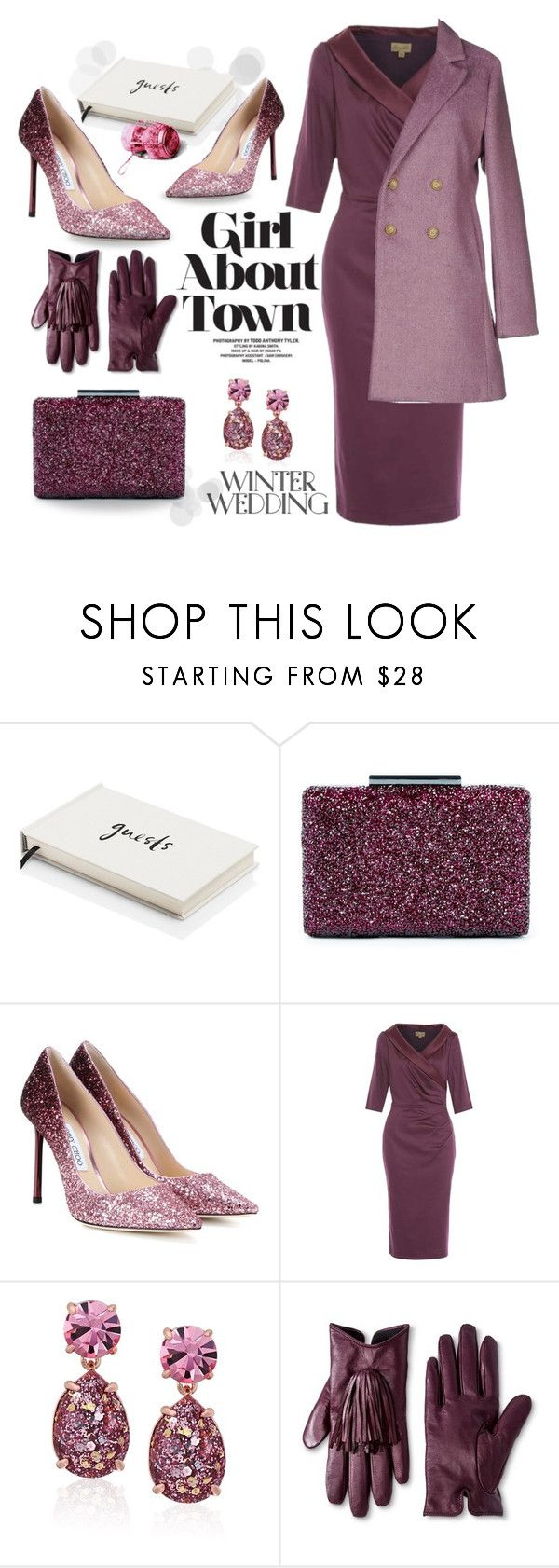"""Winter Wedding"" by tjclay3 ❤ liked on Polyvore featuring Kate Spade, Sole Society, Jimmy Choo, Merona, Sarah Jackson and winterwedding"