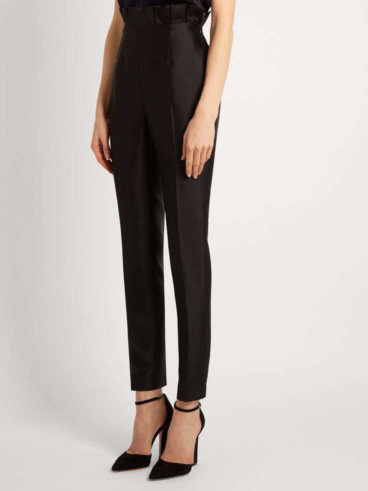 Margarete slim-leg silk and wool-blend trousers | Gabriela Hearst | MATCHESFASHION.COM AU