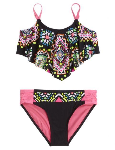 Embellished Flounce Bikini Swimsuit   Girls Swimsuits Swim   Shop Justice >>> WANT