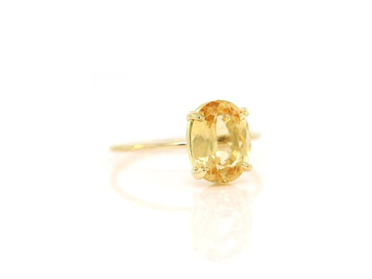 Light Citrine Ring