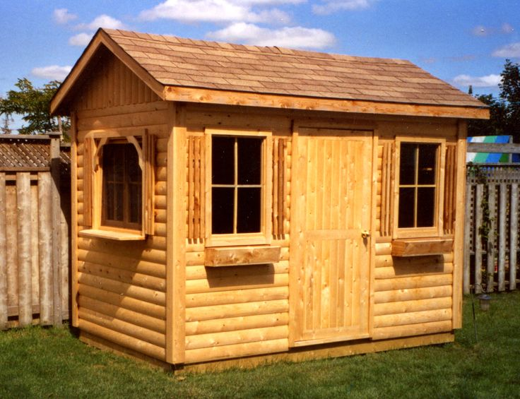 6ft x 10ft Cedar shed by Flamborough Patio