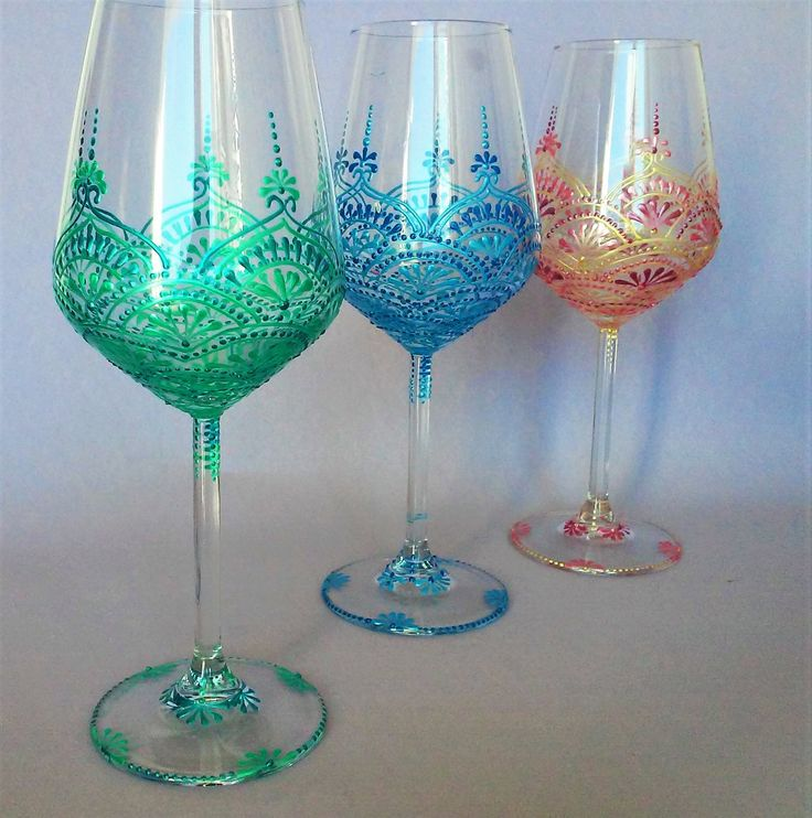 hand painted wine glasses decorative wine glasses wedding wine glasses by on