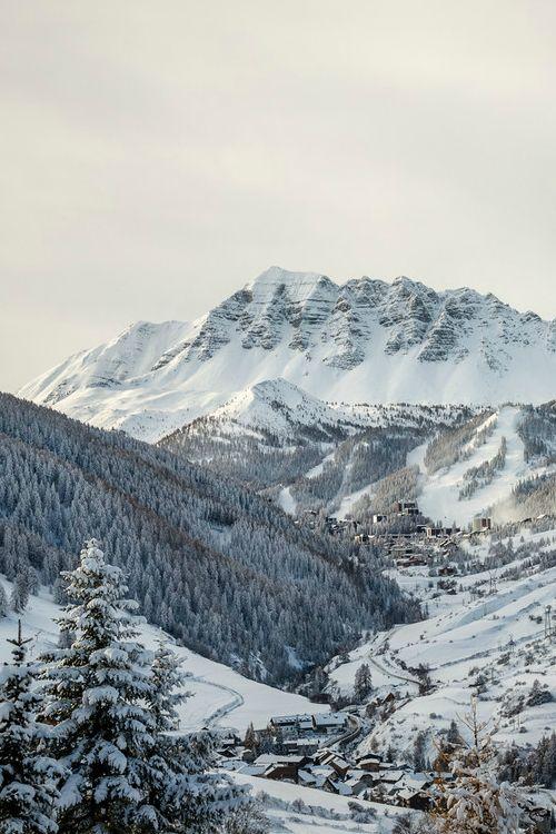 Hautes-Alpes, Vars La Forêt Blanche.