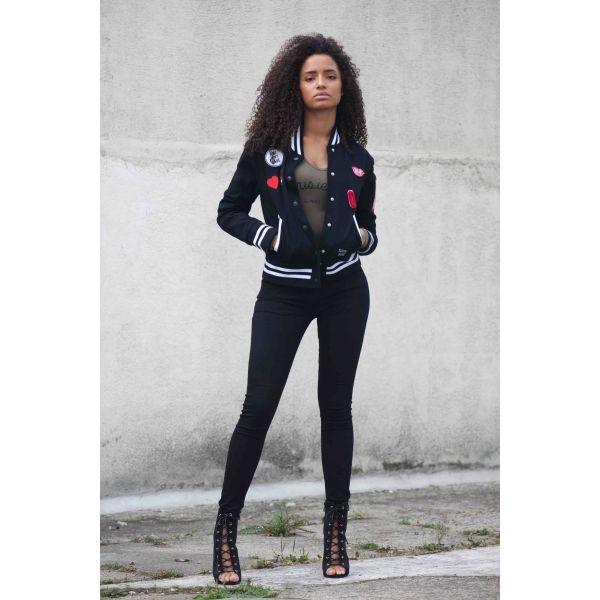 Produkty :: ŽENY :: Oblečenie :: Mikiny :: Mikina Sixth June Femme Black Veľkosť: M - Produkty