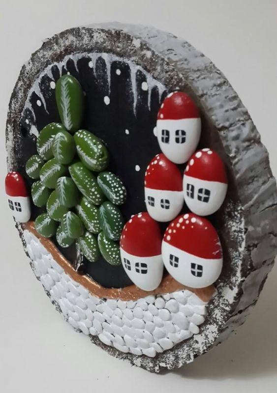Kış Geldi Hoş Geldi, Taş Pano - Atölye Arzu Musa - Sizin ve eviniz için az sayıda üretilen el yapımı objeler.