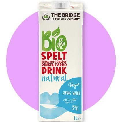 MLEKO ORKISZOWE BIO (The Bridge, Włochy) | 1 litr, cena 8,90 zł na www.pureveg.pl  Oryginalny, wegański napój orkiszowy przygotowany z wysokiej jakości organicznego orkiszu. #mlekoroślinne #mlekoorkiszowe #roslinnebio #thebridge #pureveg