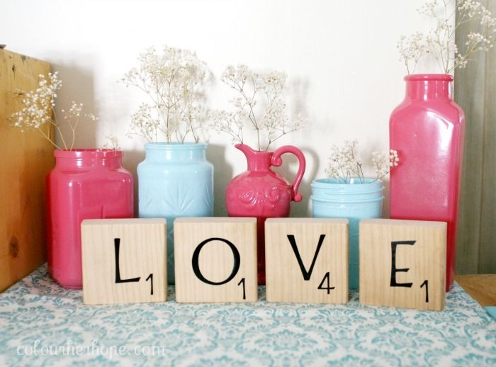 DIY scrabble block letters by Colour Her Hope