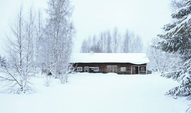 Snow in Finland! Love it!