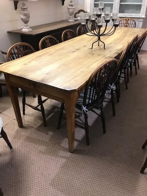 large 3m chestnut antique table home antique dining tables rh pinterest com