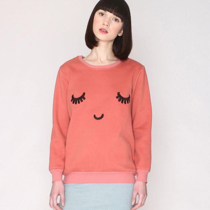 Long-Sleeved Face Print Sweatshirt PEPALOVES