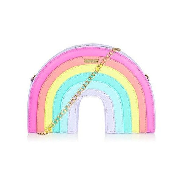 Rainbow Cross Body Bag featuring polyvore, women's fashion, bags, handbags, shoulder bags, blue purse, blue crossbody handbag, blue cross body purse, blue handbags and crossbody purse