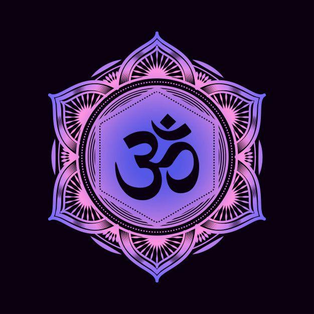 Padrao De Mandala Decorativa Com Simbolo Om In 2021 Mandala Pattern Om Symbol Poster Prints