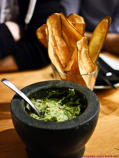 Market fresh guacamole made to order at your table from Mejico