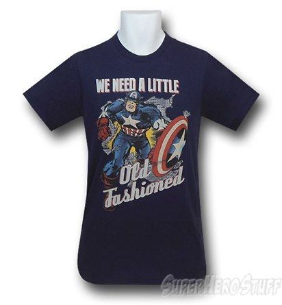 Captain America Old Fashioned 30 Single T-Shirt