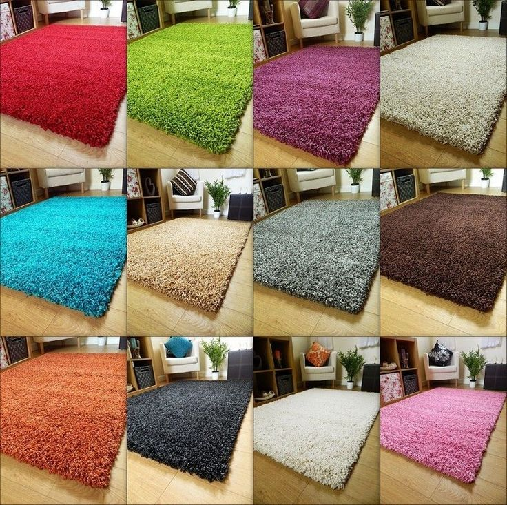 SMALL X LARGE SIZE THICK PLAIN SOFT SHAGGY RUG NON SHED 5CM PILE MODERN RUGS #Fusion #Modern