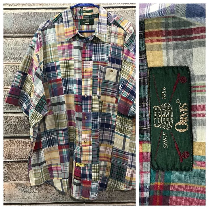 ORVIS Indian Madras Shirt  | eBay