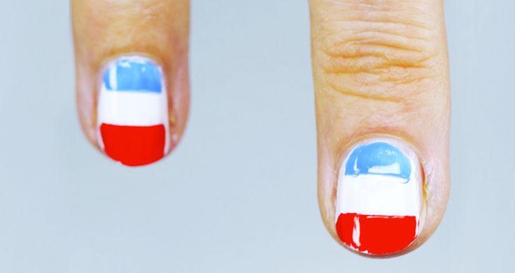 Simpel: je nagels lakken in 3 kleuren