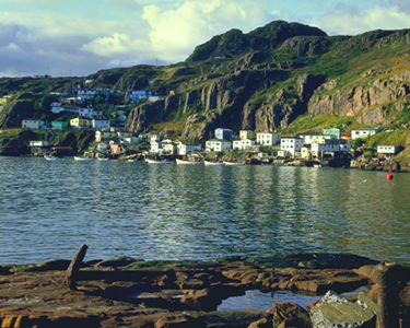 St. John's Harbour, Narrows Approach to St. John's Harbour, known as the Narrows, 207 m wide (Colour Library Books).