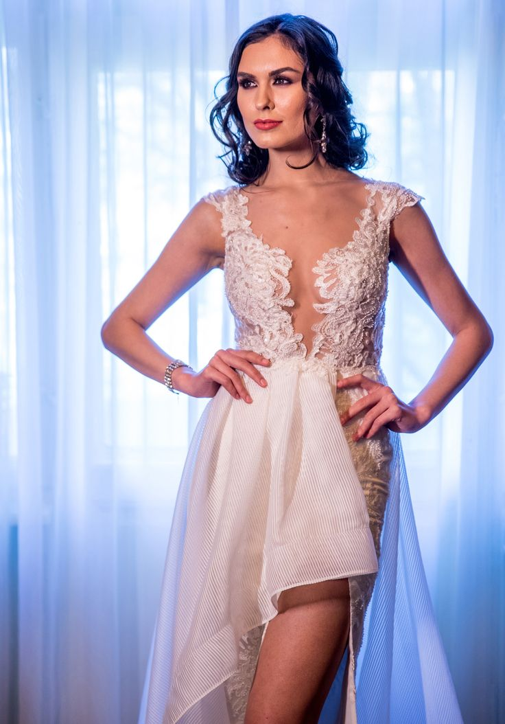 Our Reve de Fleur bridal collection is all about the details! Hand crafted dress with beads, sequins and gemstones