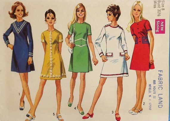 Vintage 60's Sewing Pattern Misses Dress by SuzisCornerBoutique, $13.00