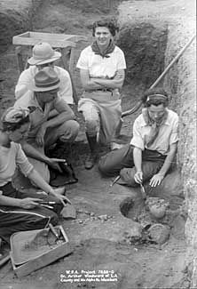 The Works Progress Administration (WPA) sponsored many stimulus projects to keep people employed during the Great Depression in Orange County, including on this archeological dig.