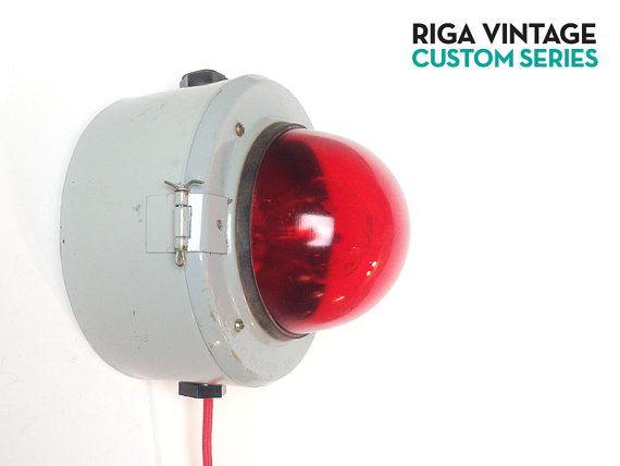 Soviet Industrial Alarm Lamp / Custom by RigaVintage / USSR 80s