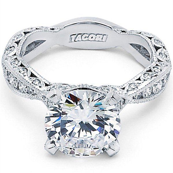 "Tacori ""Crescent"" Pave Diamond Engagement Ring Tacori Classic Crescent. Fine Diamond Jewelry. Free Shipping. Low Price Guaranteed."