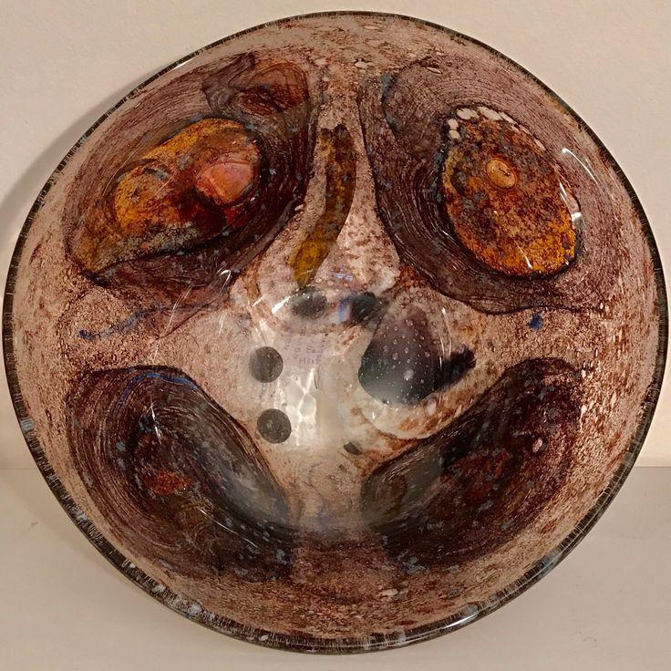 MILAN VOBRUBA , 1934-2016 , ALEPPO GLAS  . Schalen - Draufsicht.  Weiteres : Siehe 2 Pins vorher.