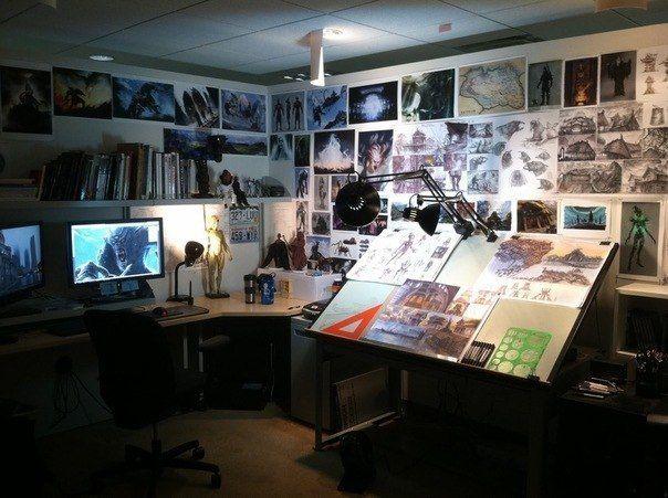 Как выглядит рабочая студия вашей мечты? - Арт-Гуру — творчество без границ!