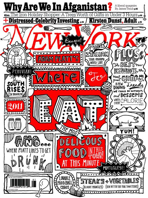 timothy goodman New York Magazine: Where to Eat: Cover illustration and typography