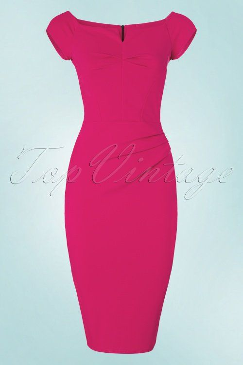 Vintage Chic Turquois Pencil Dress 100 32 21006 20160708 0007W