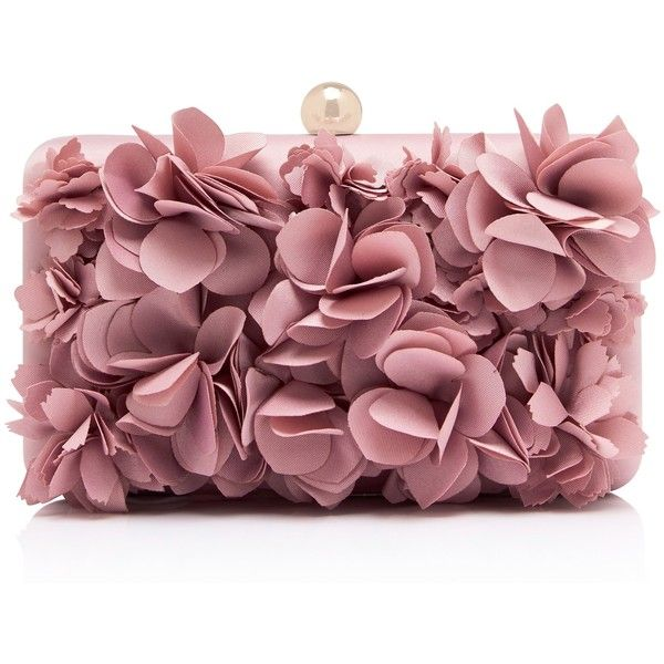 Violet 3D Floral Clutch ($38) ❤ liked on Polyvore featuring bags, handbags, clutches, floral handbags, floral print purse, red handbags, floral clutches and floral purse