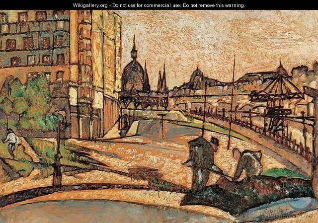 Gyula Batthyany (1887-1959) - Road Maintenance on the Bank of Danube, 1920 22